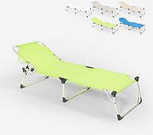 Chaise longue de plage pliante en aluminium