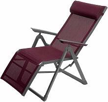 Chaise longue Decima Hespéride bordeaux - Bordeaux