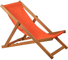 Chaise longue en bois en couleur orange IberoDepot