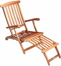 Chaise longue en bois Queen Mary - Transat Bain de
