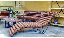 Chaise longue en cuir d'inspiration