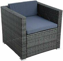 Chaise longue en polyrattan, chaise de jardin,