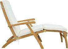 Chaise longue en teck massif