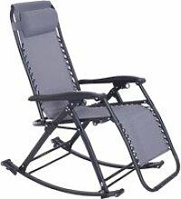 Chaise longue fauteuil à bascule pliable de