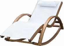 Chaise longue fauteuil berçant à bascule transat