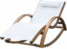 Chaise longue fauteuil berçante à bascule