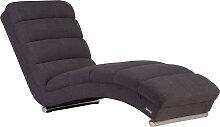 Chaise longue / fauteuil design gris TAYLOR
