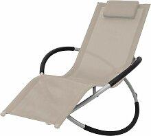 Chaise longue géométrique d'extérieur Acier