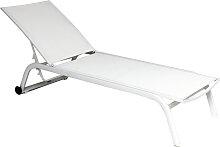 Chaise longue NINO, Blanc