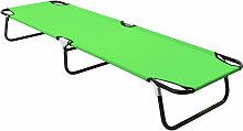 Chaise longue pliable Acier Vert