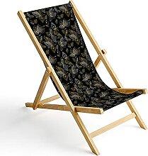 Chaise Longue Pliable en Bois Fauteuil de Plage