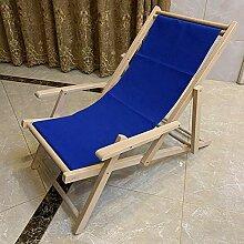 Chaise Longue Pliable en Bois Massif Chaise Longue