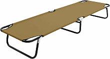 Chaise longue pliable Taupe Acier