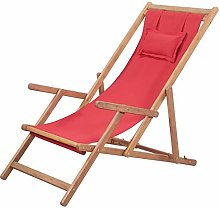 Chaise Longue Pliante Chaise de Plage Ajustable