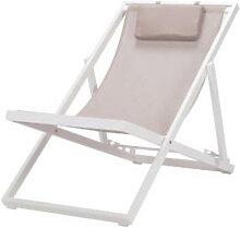 Chaise longue pliante en aluminium et en
