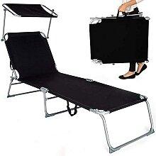 Chaise longue pliante pour la plage ou le camping