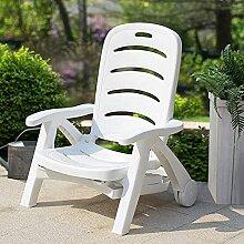 Chaise longue pour extérieur, terrasse, piscine,