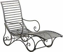 Chaise longue pour jardin Amiens en fer forgé