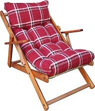Chaise longue RELAX inclinable 3 places en bois