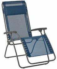 Chaise longue relax pliante multiposition en acier