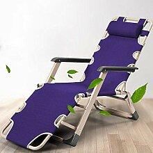 Chaise longue robuste inclinable zéro gravité -
