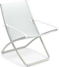 Chaise longue SNOOZE de Emu, Blanc / Blanc