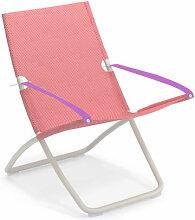 Chaise longue SNOOZE de Emu, Blanc mat / Framboise