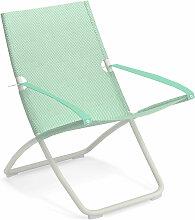Chaise longue SNOOZE de Emu, Vert pâle / Blanc