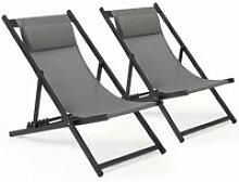 Chaise Longue Transat Pliable Chaise de Jardin