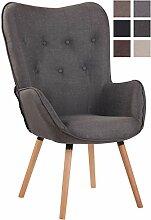 Chaise Lounge Ashford en Tissu I Chaise Fauteuil