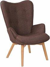 Chaise Lounge Durham en Tissu marron