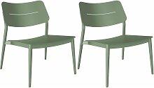 Chaise lounge jardin en aluminium Chic (Lot de 2)
