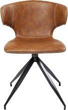 Chaise marron et acier