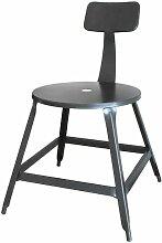 Chaise métal industriel gris Lore - Lot de 2