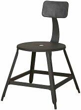 Chaise métal industriel noir Lore - Lot de 2