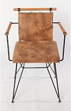 Chaise métal style industriel camel Chaise style