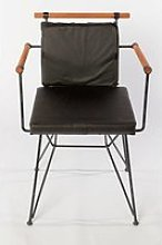 Chaise métal style industriel noir Chaise métal