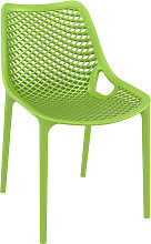 Chaise moderne 'BLOW' verte en matière