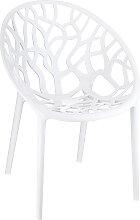 Chaise moderne 'GEO' blanche en matière