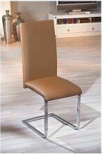 Chaise moderne marron - Marron