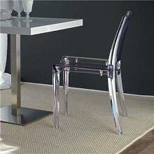 Chaise moderne transparente GWENDOLINE (lot de 4)