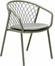 Chaise Nef / Métal & polyester - Emu blanc/beige