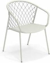 Chaise Nef / Métal & polyester - Emu blanc en