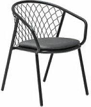 Chaise Nef / Métal & polyester - Emu noir en