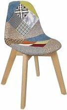 Chaise patchwork enfant home deco factory HD6901