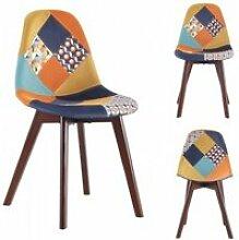 Chaise patchwork retro