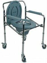 Chaise percée-Chaise WC- Pliable - Avec