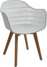 Chaise perforées en polypropylène blanc