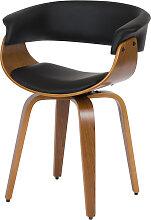 Chaise pivotante en cuir synthétique noir