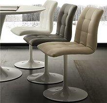 Chaise pivotante grise design CESARIO